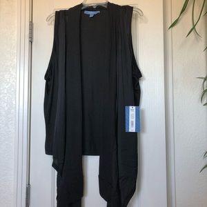 NWT Vera Wang Black Vest XL